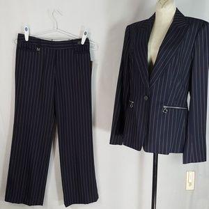 Michael Kors 2-Piece Suit - Blue Pinstripe NWT